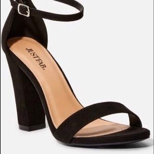 JUST FAB black sandals  NW0T  NEVER WORN